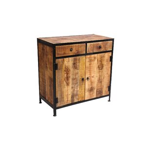 Find Dante Industrial Reclaimed Wood and Iron 2 Drawer Sideboard Accent Cabinet By Millwood Pines