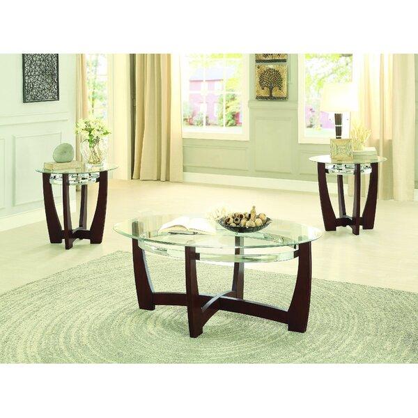 latitude run catalina 3 piece coffee table set & reviews   wayfair