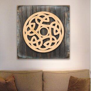 Celtic Spiral Wood Box Sign Wall Decor