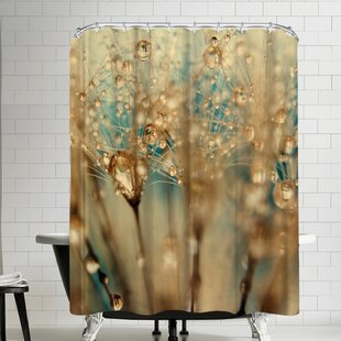 Droplets Of Gold Shower Curtain