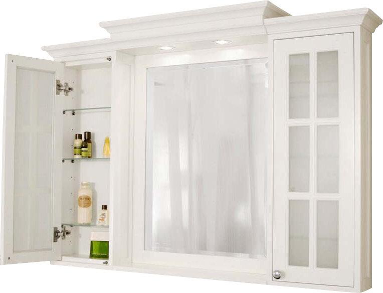 Harper Beach Monterey 48 X 36 Surface Mount Medicine Cabinet With Lighting Reviews Wayfair