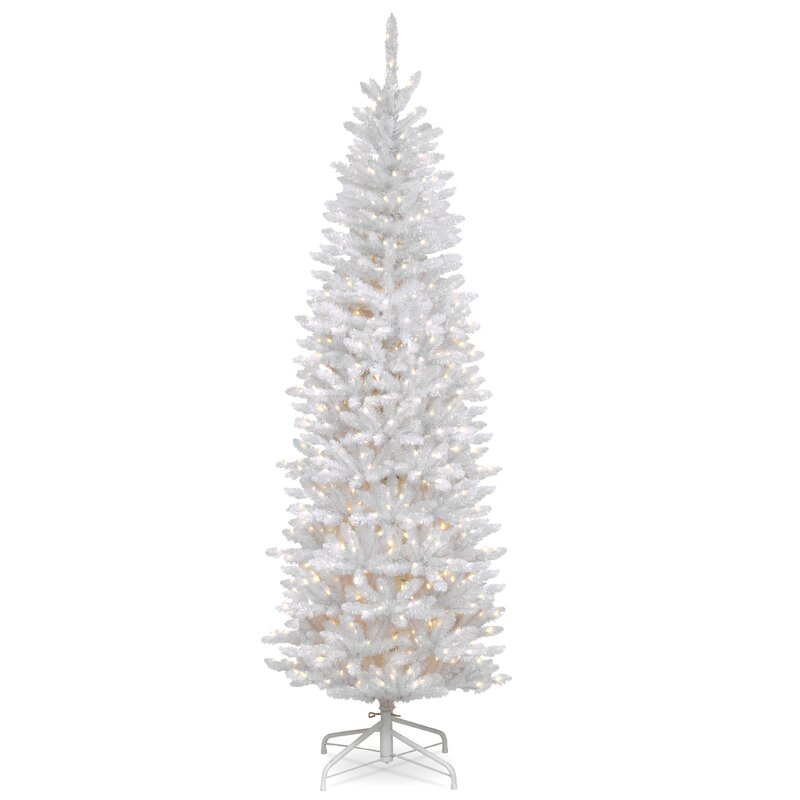 National Tree Co Kingswood Hinged Pencil White Fir Artificial
