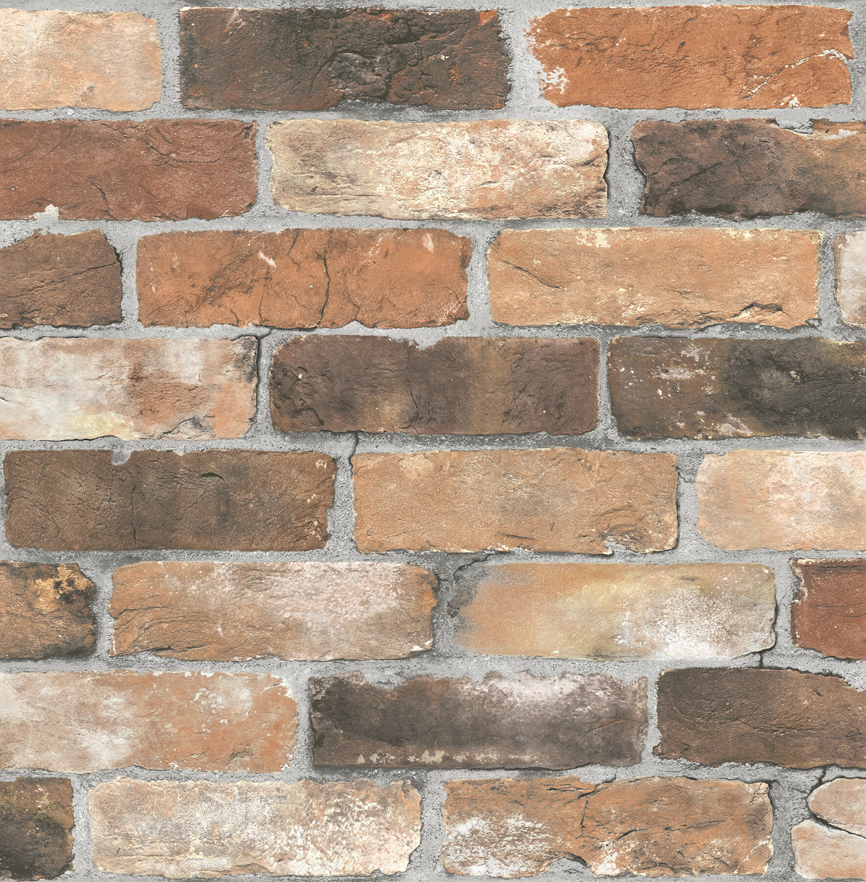 Brewster Home Fashions Reclaimed Rustic 2 X 205 Brick Wallpaper Reviews