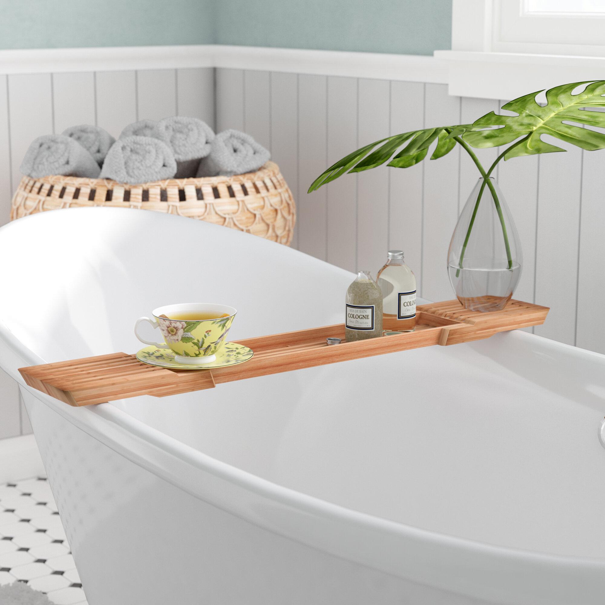 Bayou Breeze Ashworth Adjustable Bamboo Bath Caddy & Reviews   Wayfair
