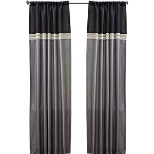 Culpeper Striped Blackout Rod Pocket Curtain Panels (Set of 2)