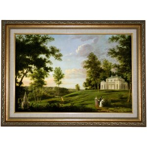 'Southeast View of Sedgeley Park The Country Seat of James Cowles Fisher Esq.  1819' Framed Print on Canvas by Historic Art Gallery