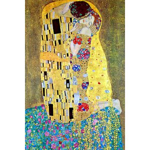 Kiss by Gustav Klimt Painting Print on Wrapped Canvas by Buyenlarge