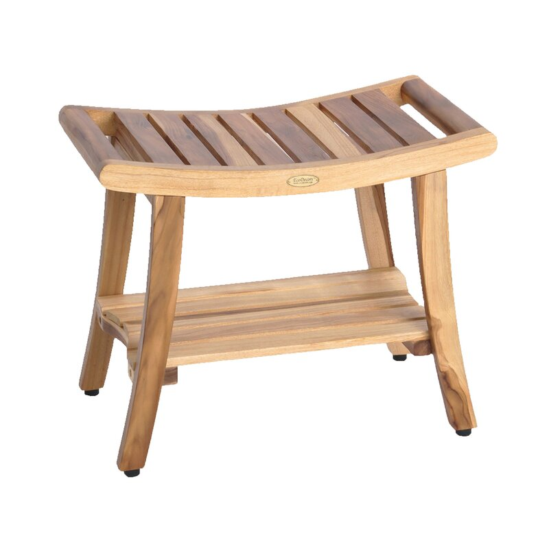 EcoDecors Harmony EarthyTeak Teak Shower Seat | Wayfair