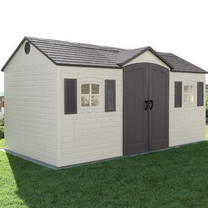 Side Entry 14 ft. 7.5 in. W x 7 ft. 8.7 in. D Plastic Storage Shed