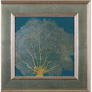 'Gold Coral II'  Framed Graphic Art Print by Art Effects