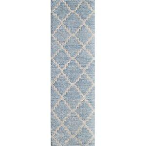 Zara Hand-Woven Blue Area Rug
