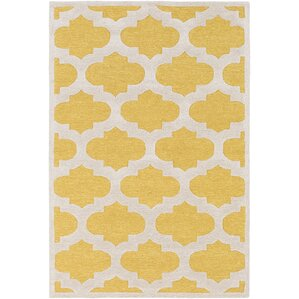 boise handtufted yellow area rug