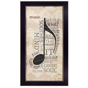 'Music' Framed Textual Art by Trendy Decor 4U