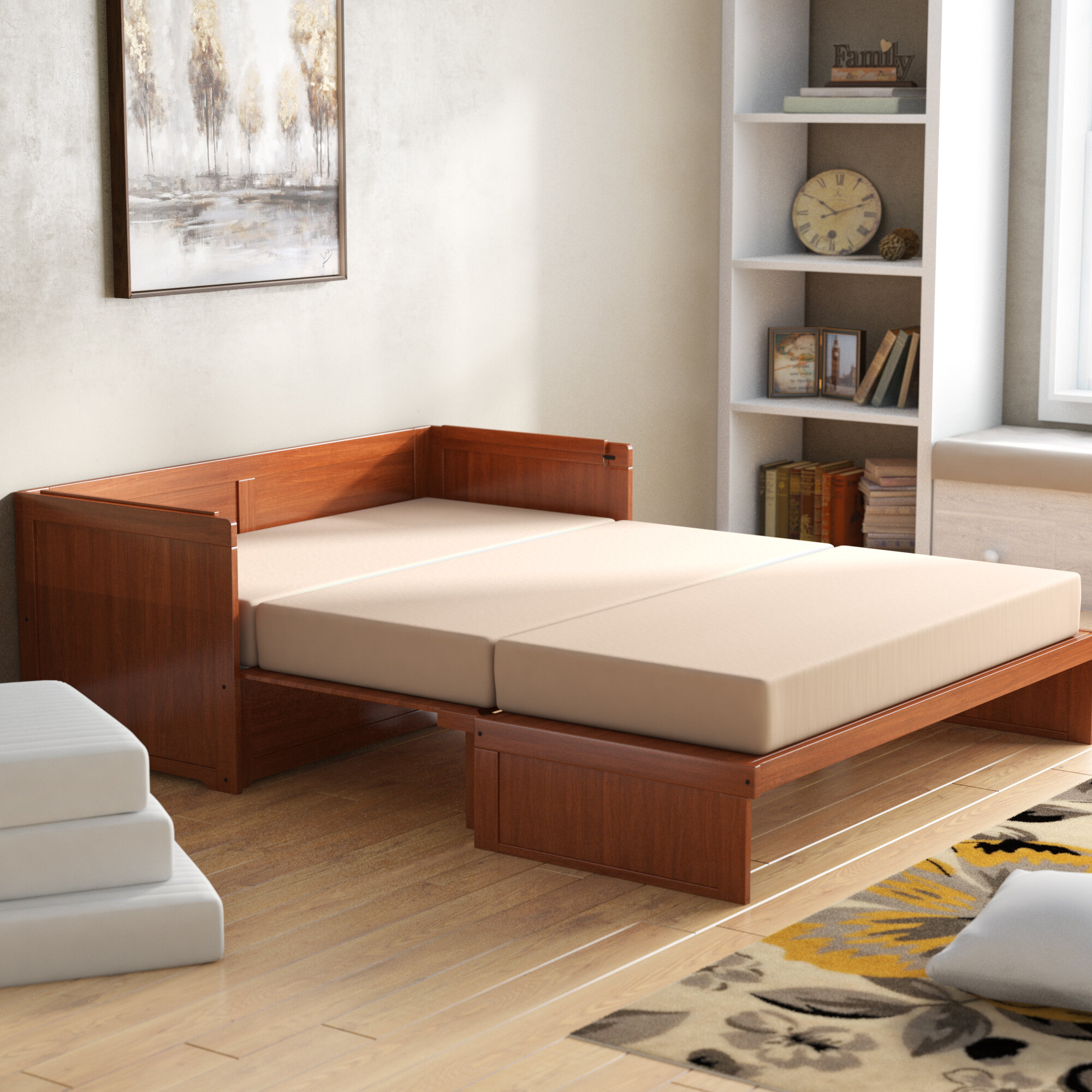 new styles b7f82 db51c Barham Cube Queen Murphy Bed with Mattress