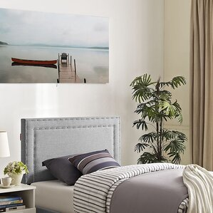 Eyre Twin Upholstered Wood Panel Headboard by Ivy Bronx
