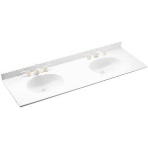 Double Vanity Tops For Bathrooms double vanity tops you'll love | wayfair