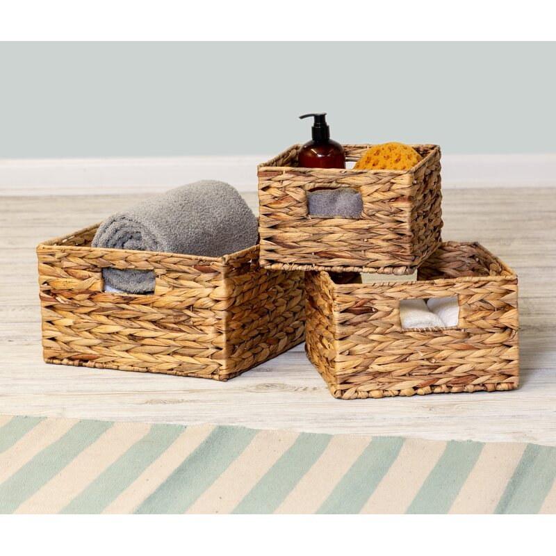 3 Piece Wicker/Rattan Basket Set