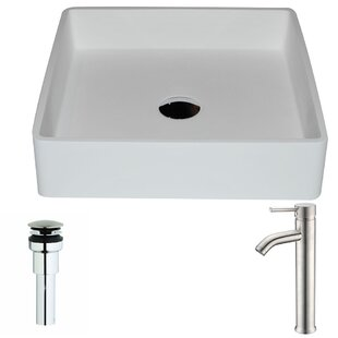 Purchase Passage Stone Square Vessel Bathroom Sink with Faucet By ANZZI