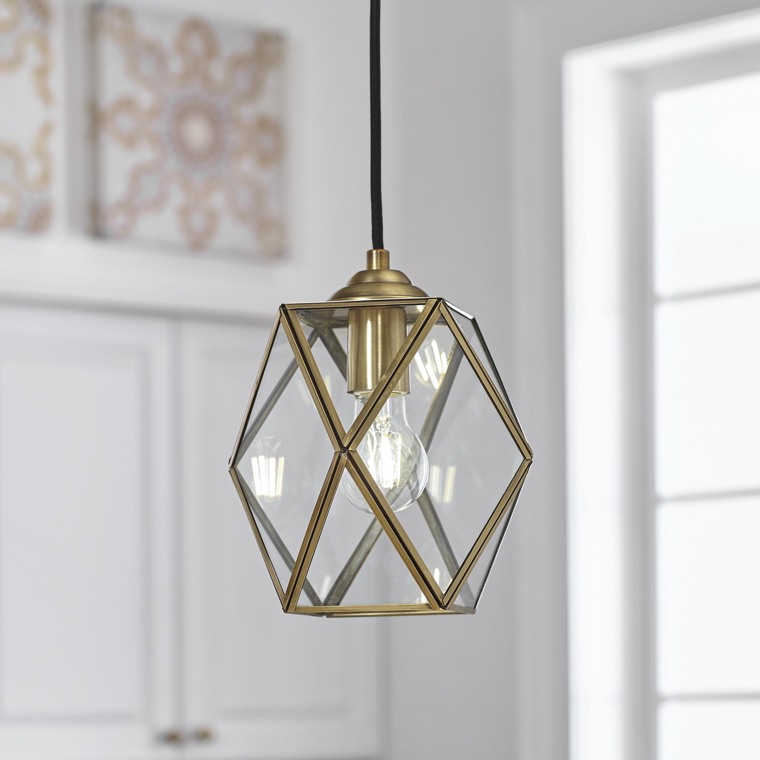 Pendant Light Modern Geometric Hollowed Out Globe Single Light Dining Area Lamp Home Garden Ceiling Fixture