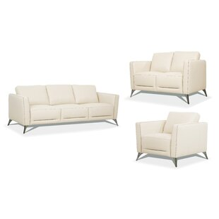 Matteo Genuine Leather Living Room Set by Andrew Home Studio