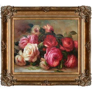 Discarded Roses by Pierre-Auguste Renoir Framed Painting by Tori Home