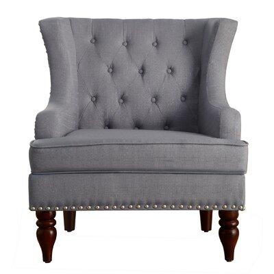 Attractive Malina Wingback Club Chair