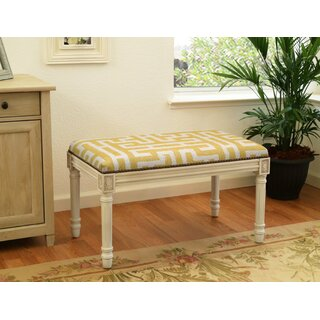 Aliyah Upholstered and Wood Bench by Lark Manor SKU:CC633562 Check Price