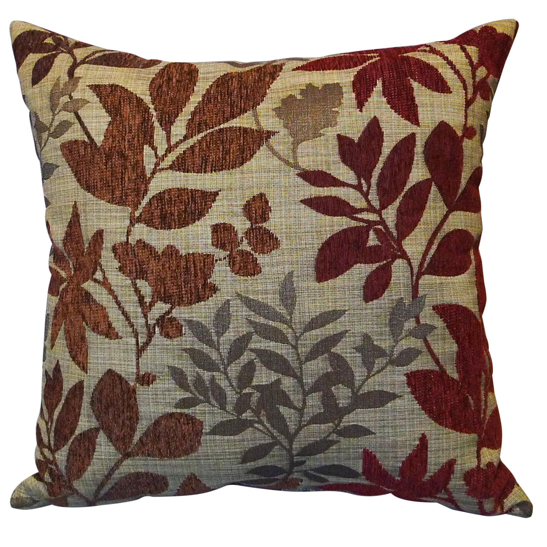 Jacquard Decorative Pillows : Essential Bristol Chenille Jacquard Leaf Throw Pillow & Reviews Wayfair.ca