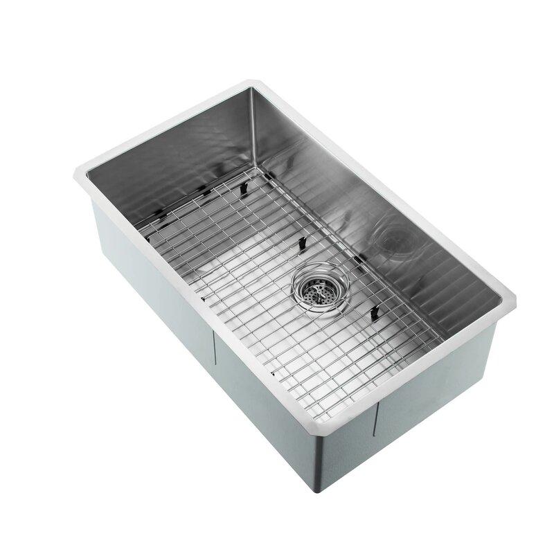 Soleil radius 16 gauge stainless steel 32 x 19 single bowl radius 16 gauge stainless steel 32 x 19 single bowl undermount kitchen workwithnaturefo