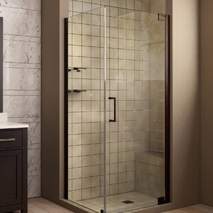 Elegance 30 x 72 Pivot Frameless Shower Door with Clear Max Technology By DreamLine
