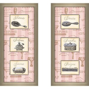 'Beaute Feminine Panel I' 2 Piece Framed Graphic Art Print Set by Ophelia & Co.