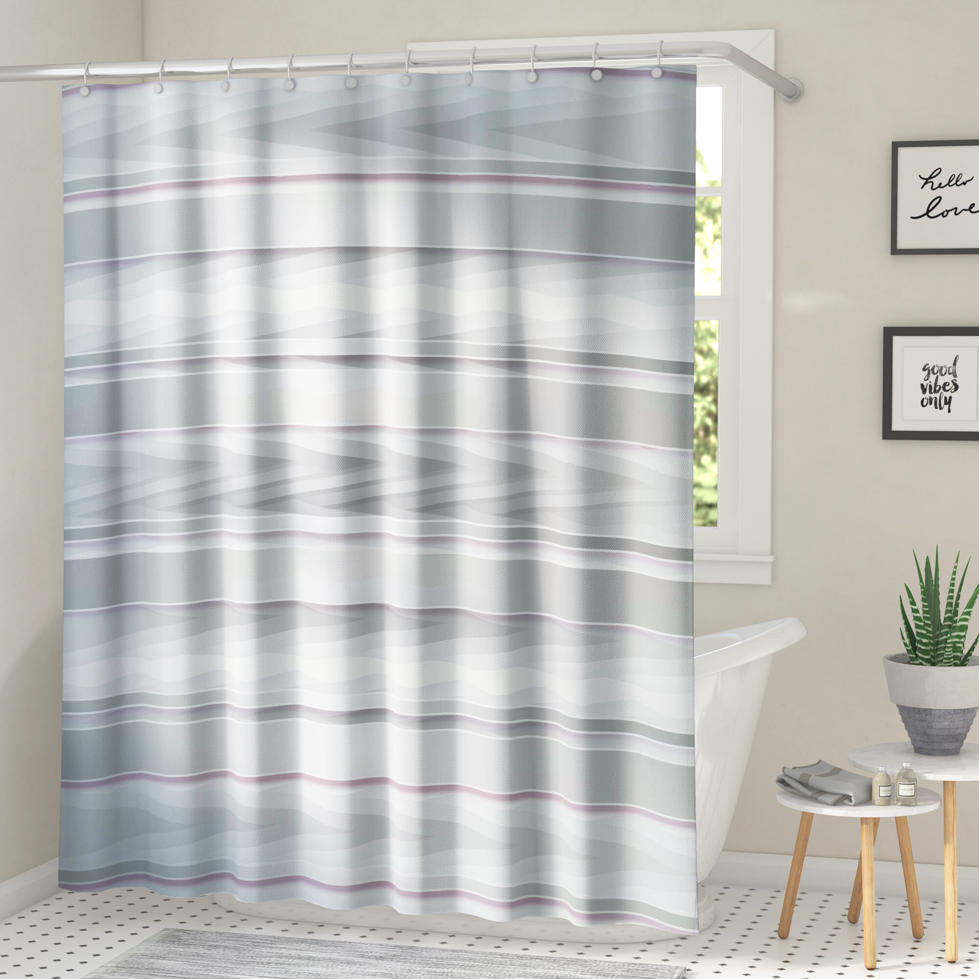 Bathroom Mat Set Waterproof Fabric Funny Naughty Expression Shower Curtain Liner
