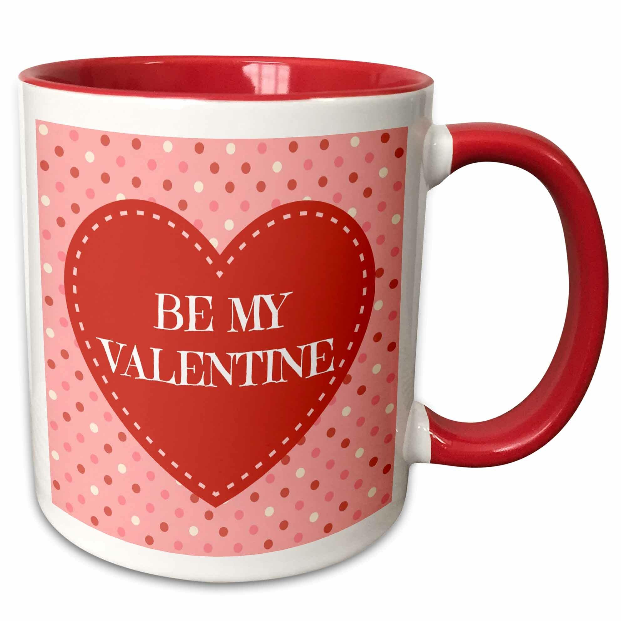 the holiday aisle ohare be my valentine polka dot design background coffee mug wayfair ohare be my valentine polka dot design background coffee mug