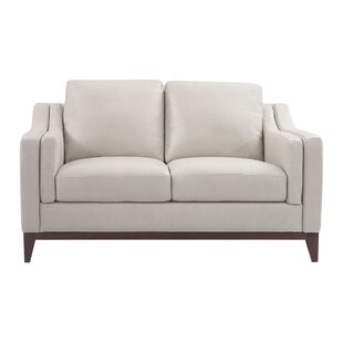Casleton Leather Loveseat