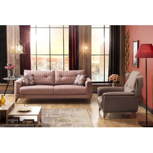 Asbed 2 Piece Sleeper Living Room Set by Everly Quinn