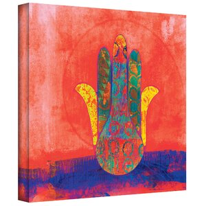 'Hand of Fatima' Painting Print on Wrapped Canvas by World Menagerie