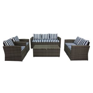 Marisa 5 Piece Rattan Sofa Seating Group By Longshore Tides