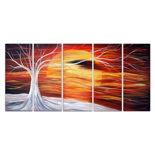 Sunshine Landscape 5 Piece Painting on Canvas Set