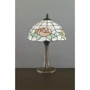 Traditional table lamps youll love wayfair floral tiffany 17 table lamp aloadofball Images