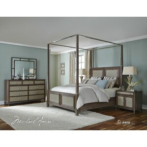 Biscayne West Canopy Customizable Bedroom Set