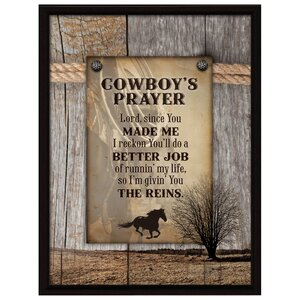 Cowboy's Prayer... Textual Art Plaque by Dexsa