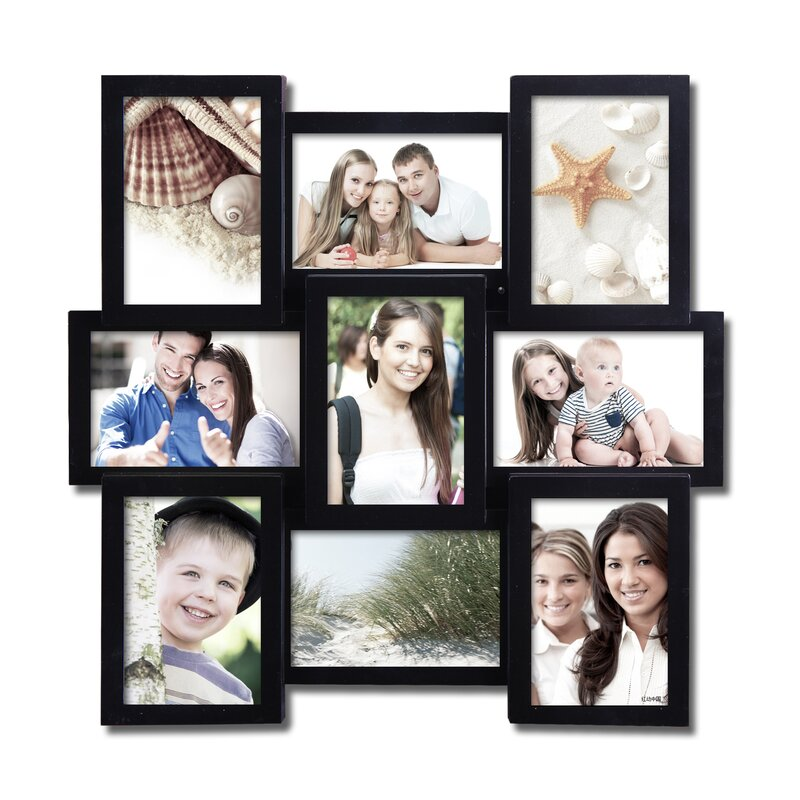AdecoTrading 9 Opening Decorative Wall Hanging Collage Picture Frame ...