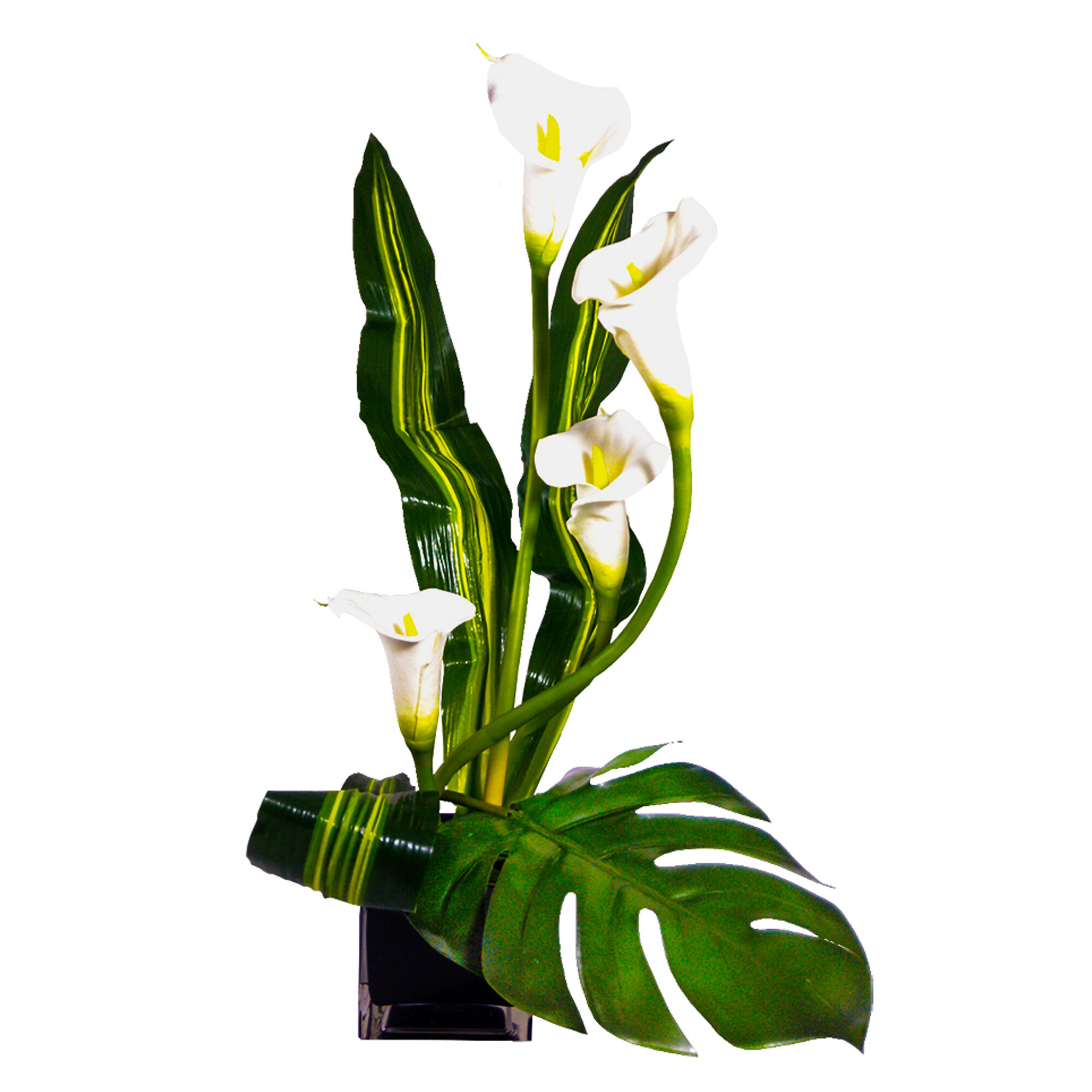 Bloomsbury Market Calla Lilies And Monstera Leaf Floral