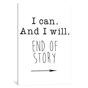 'I Can' Textual Art on Canvas by East Urban Home