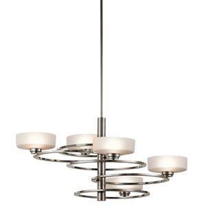 Kichler chandeliers youll love wayfair aleeka 5 light drum chandelier by kichler mozeypictures Images
