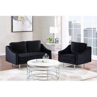 2 Piece Sofa Set Morden Style Couch SOFA (1+2 SEAT) by Mercer41