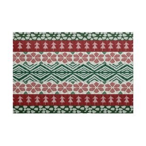 Fair Isle Red/Green Indoor/Out...