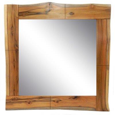 Strange Square Live Edge Teak Wood Accent Mirror Loon Peak Finish Machost Co Dining Chair Design Ideas Machostcouk