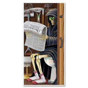 Halloween Grim Reaper Restroom Door Cover