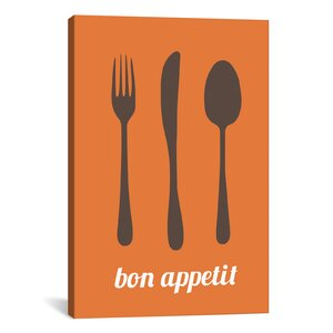'Bon Appetit' Graphic Art on Canvas by Mercury Row